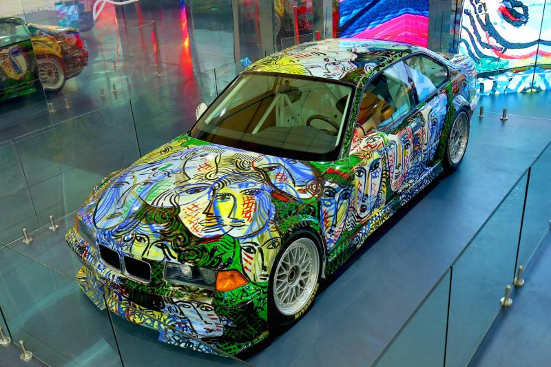 A 13. BMW Art Car modell Indiában