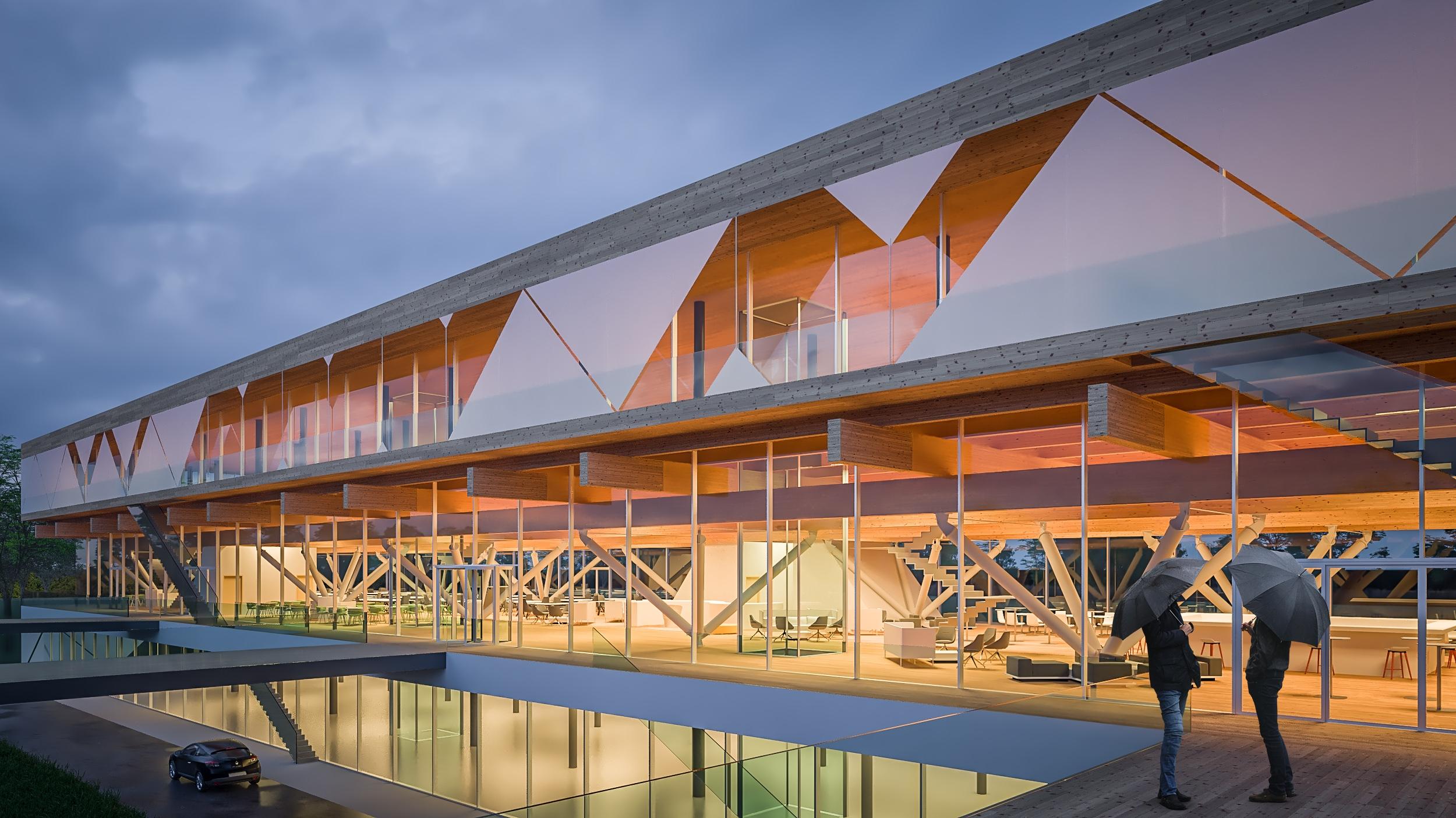 Debreceni Innovációs Központ - forrás: BORD Építész Stúdió