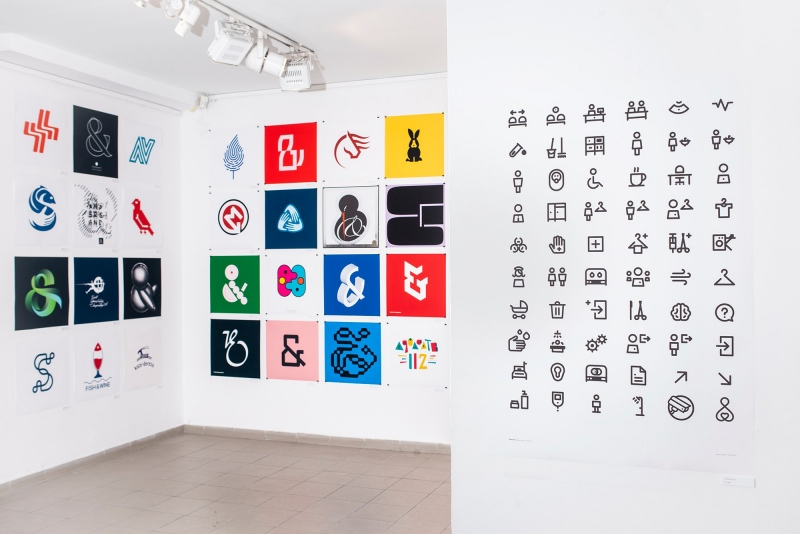 Ampersand logo & pictogram exhibition