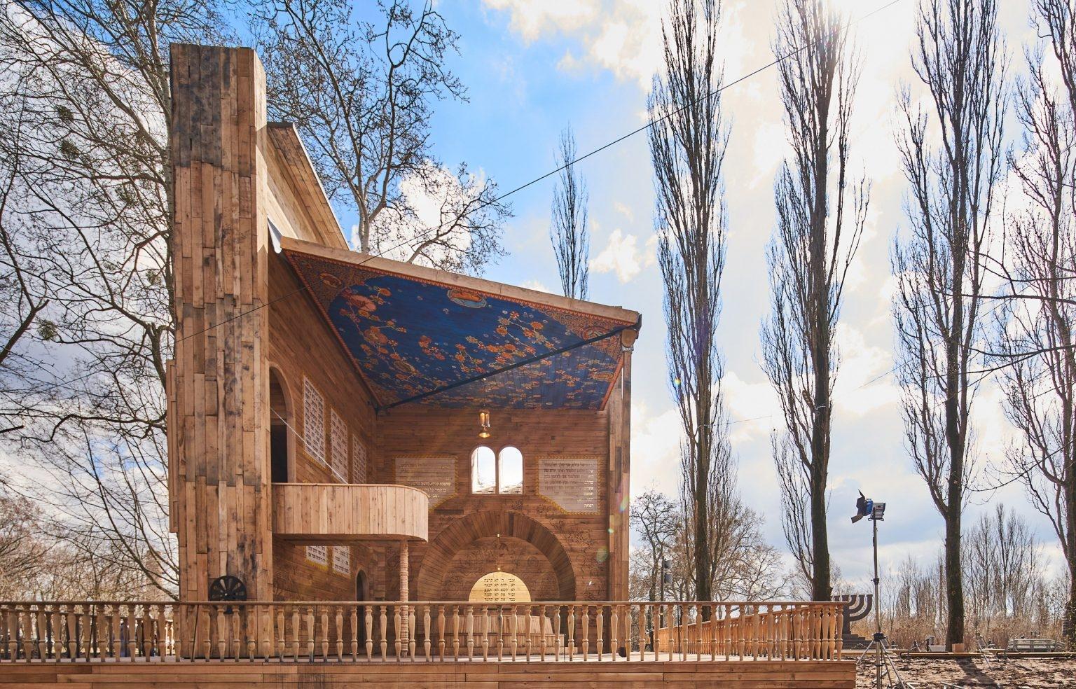 Kinyitható pop-up zsinagóga épült a Babij Jar-imészárlás helyszínén