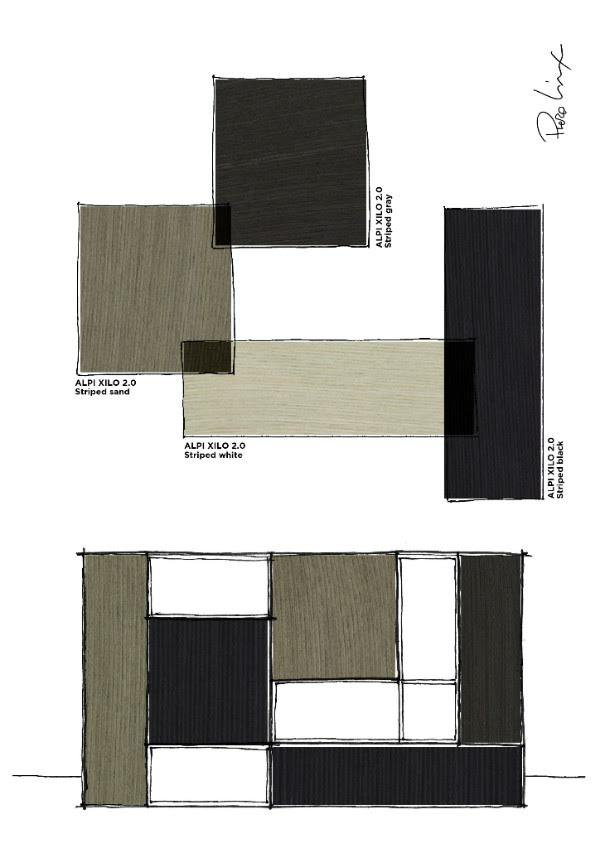 Lissoni: Shape, form, wood finishes